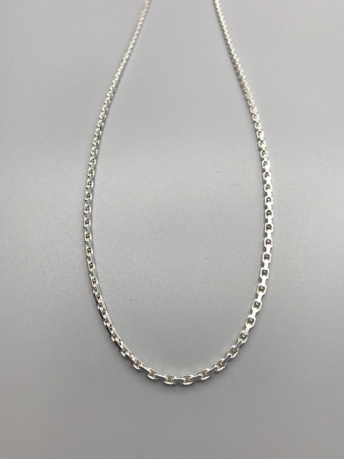 Thick Anchor Chain Necklace Silver