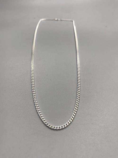 Medium Curb Necklace Silver
