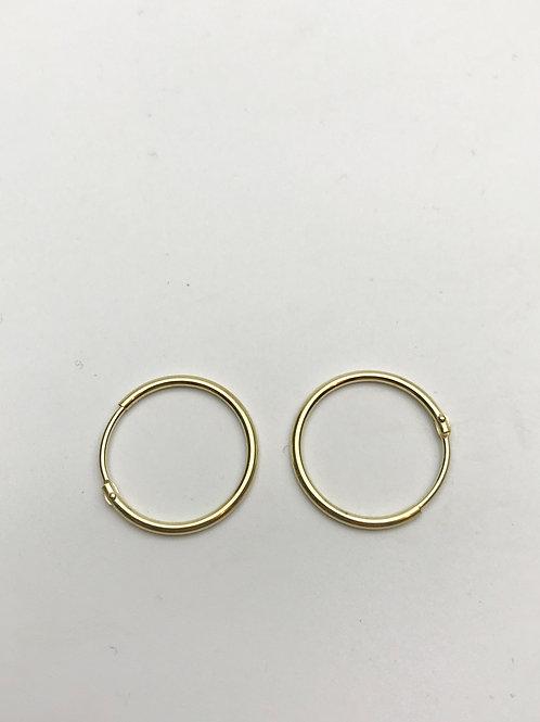 Delicate Hoop Earrings Gold Medium Small