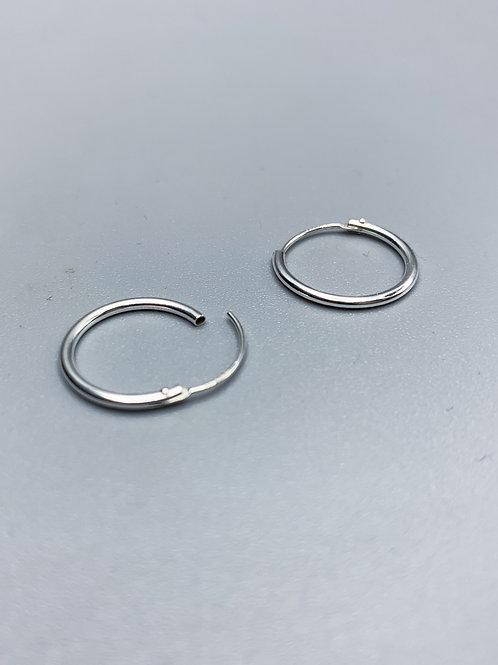 Delicate Hoop Earrings Silver Small