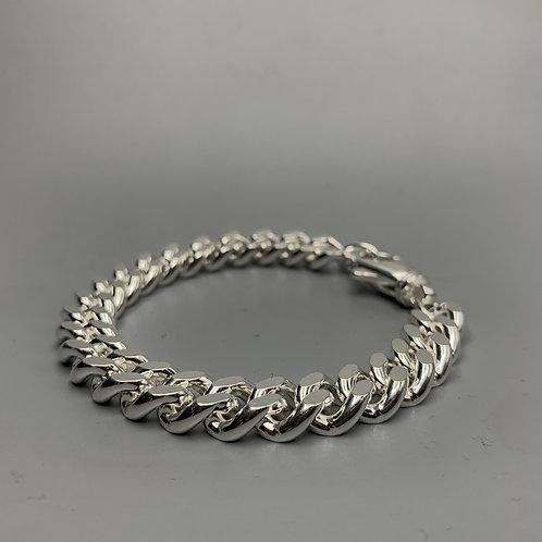 Heavy Curb Bracelet Silver