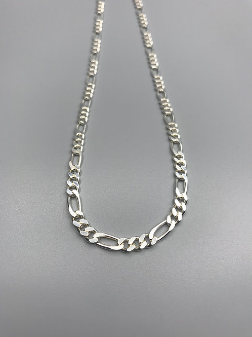 Thick Figaro Necklace Silver