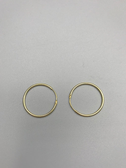Delicate Hoop Earrings Gold Medium