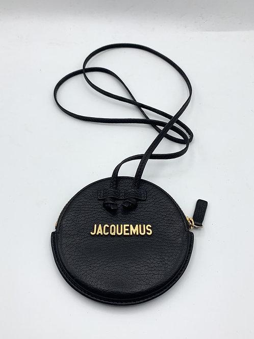 JACQUEMUS Le Pitchou Mini round leather bag