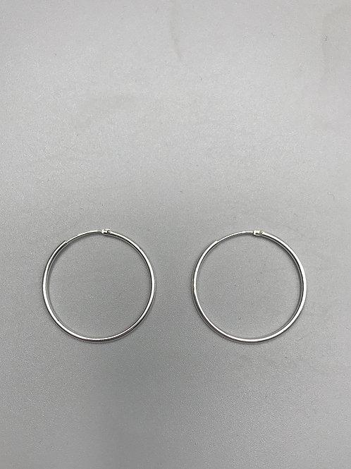 Delicate Hoop Earrings Silver Big
