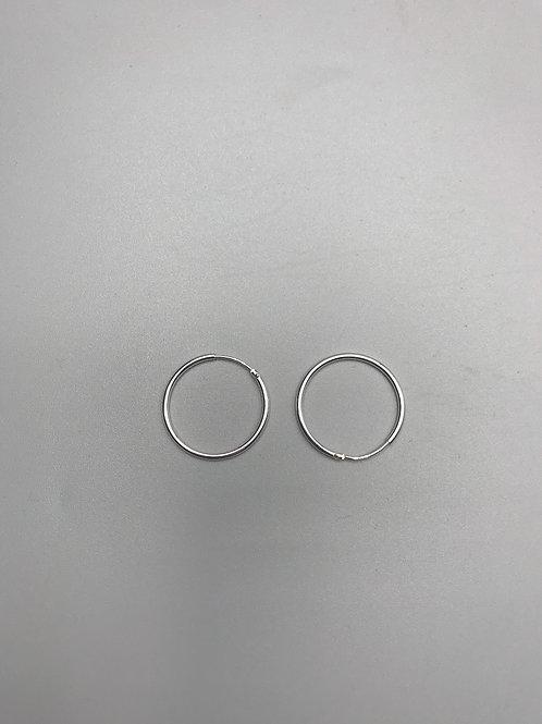 Delicate Hoop Earrings Silver Medium