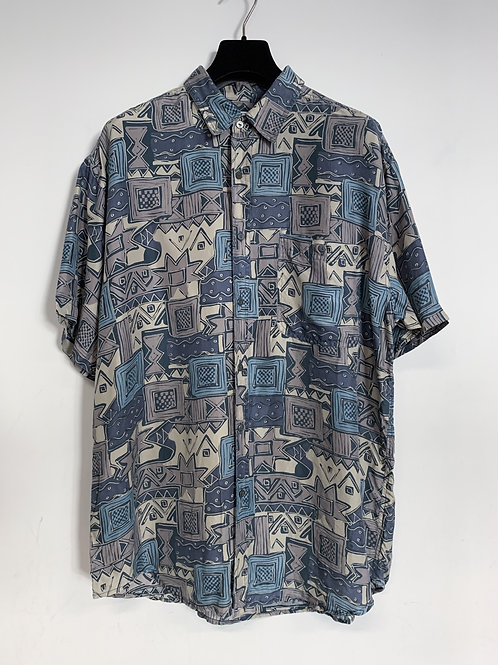 Vintage Silk Short Sleeve Shirt