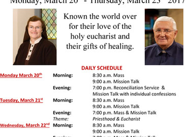 Parish Mission at St. Gregory Monday March 20 - Thursday March 23.
