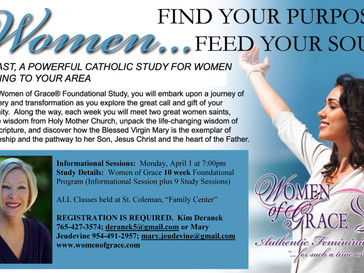 FYI: Women of Grace Study Begins April 1st!