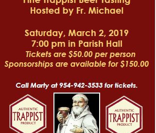 Join Us for the Trappist Beer Tasting This Saturday, March 2!
