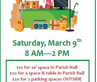 Hurry to Reserve Your Spot at the SCWC Rummage/Yard Sale March 9!