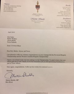 Letter from House of Commons
