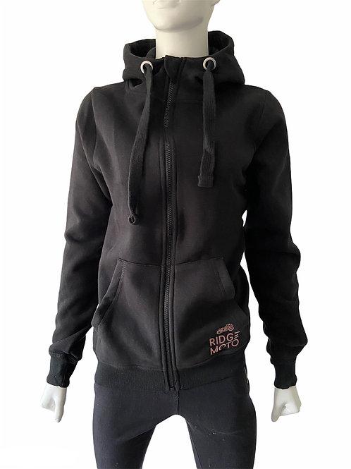 Ridge Moto Zip Thru Hoody [Black]