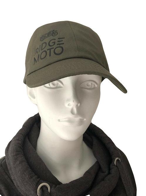 Ridge Moto Organic Baseball Cap - Olive