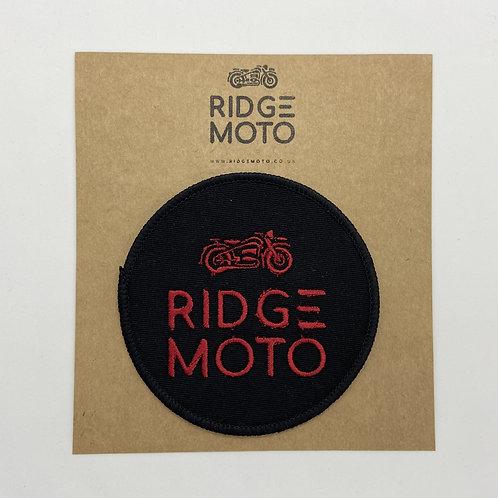Ridge Moto Round Biker Patch [Red/Blk]