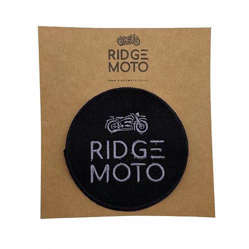 Ridge Moto Round Biker Patch [Grey/Blk]
