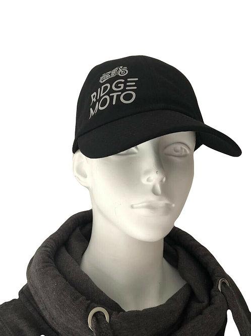 Ridge Moto Organic Baseball Cap - Black