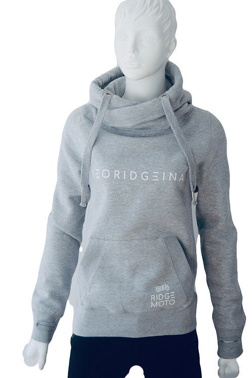 Ridge Moto BE ORIDGEINAL Cross Neck Hoody - Light Grey