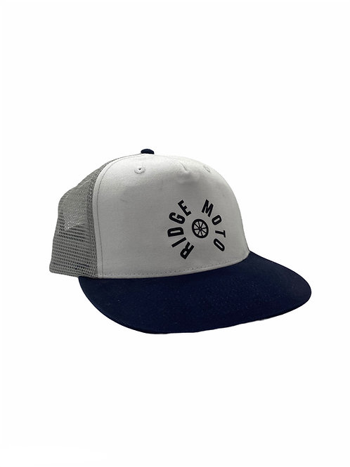 Ridge Moto TRACK Baseball Cap [Grey/Navy]