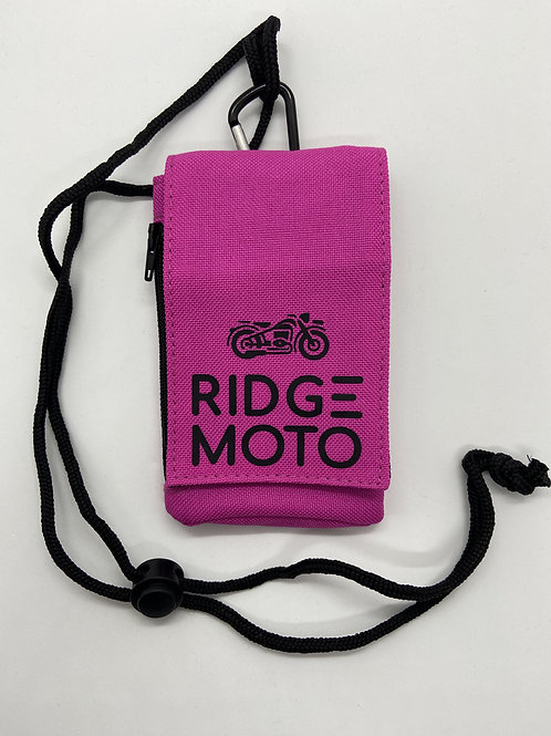 Ridge Moto Phone Pouch [Fuchsia]