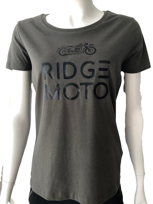 Ridge Moto Logo Organic Tee - Olive