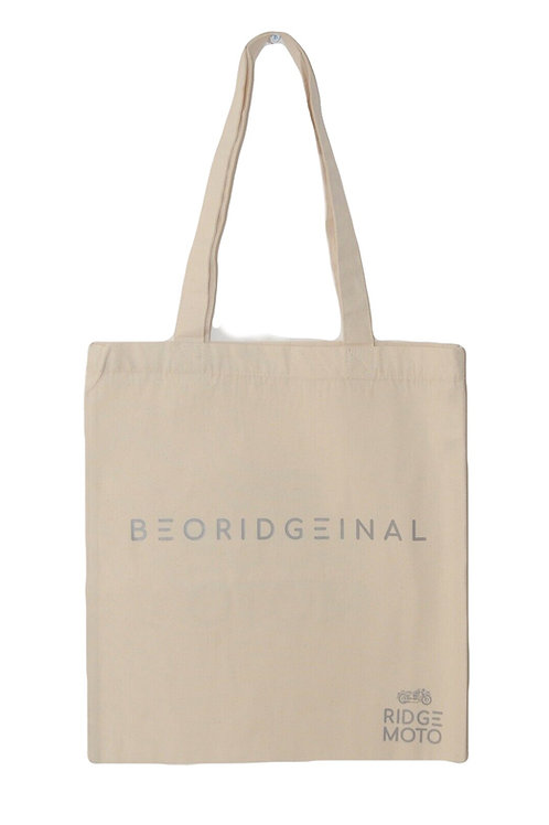 Ridge Moto Organic Tote Bag - Natural