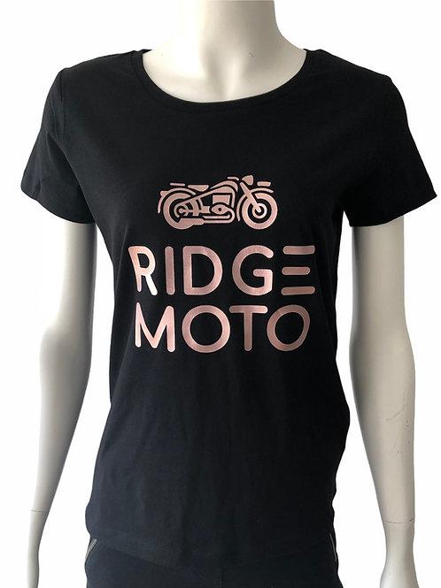 Ridge Moto Logo Organic Tee - Rose Gold