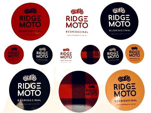 Ridge Moto Sticker Pack #001