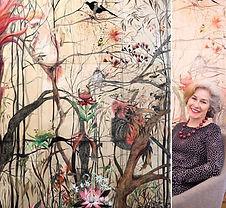 "My painting I took to Paris ""Et florere"