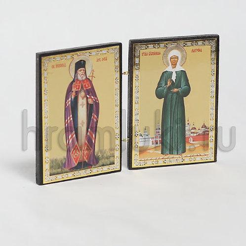 Складень свт. Лука Крымский, Матрона Московская