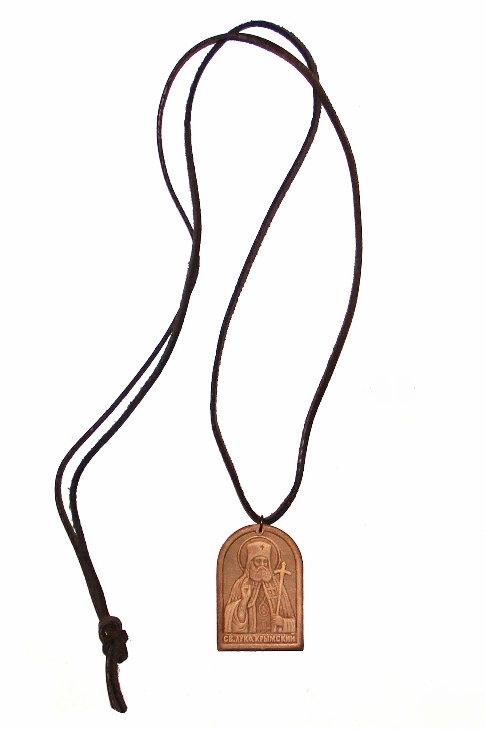 Кожаный медальон свт. Луки