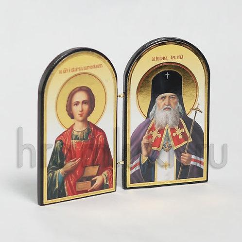 Складень свт. Лука Крымский, целитель Пантелеимон