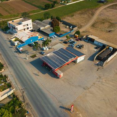 Energia solar - Posto Amigão