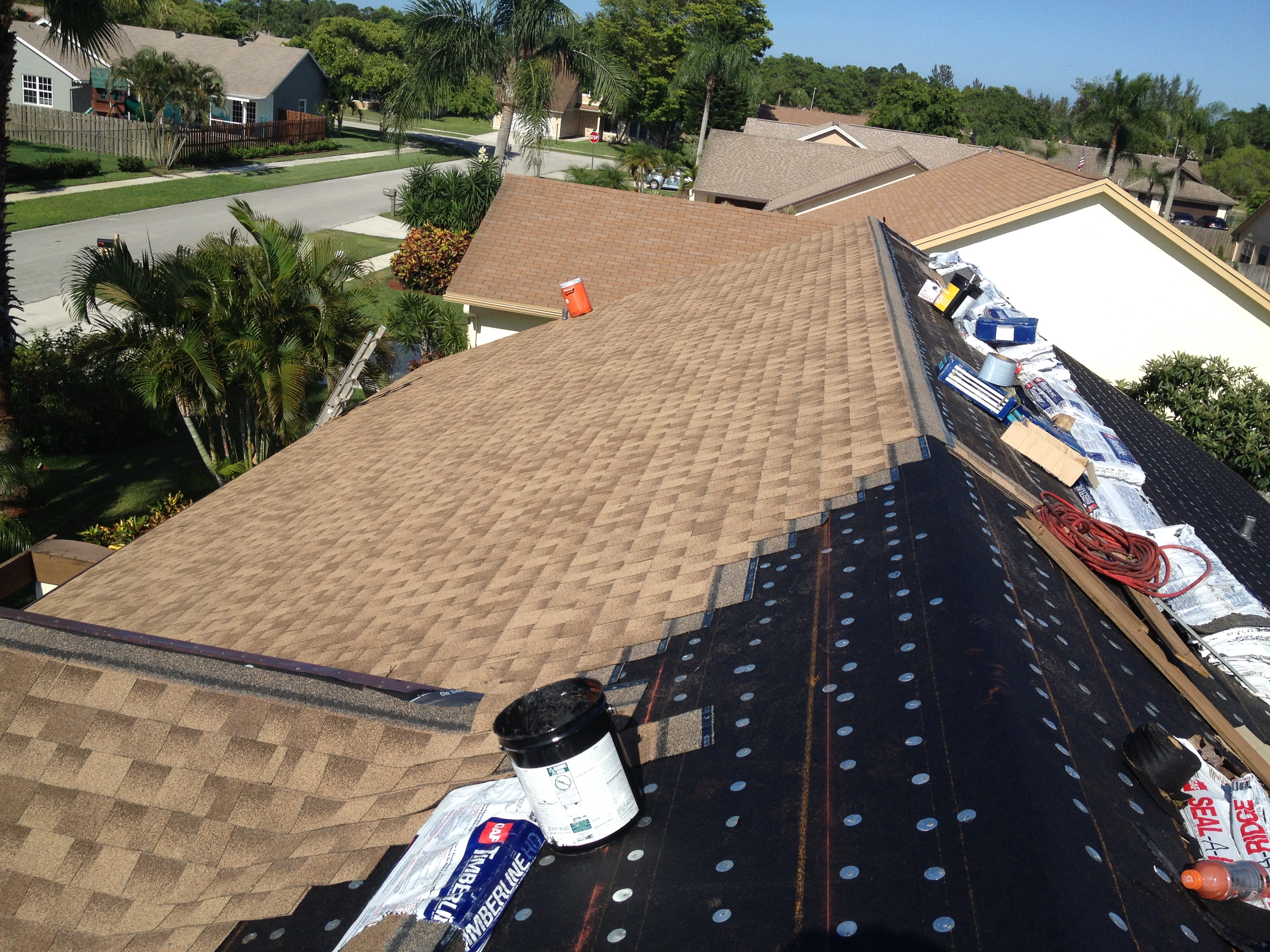 In Progress - Shingle Installtion