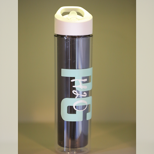 PG H2O Water Bottle with Straw