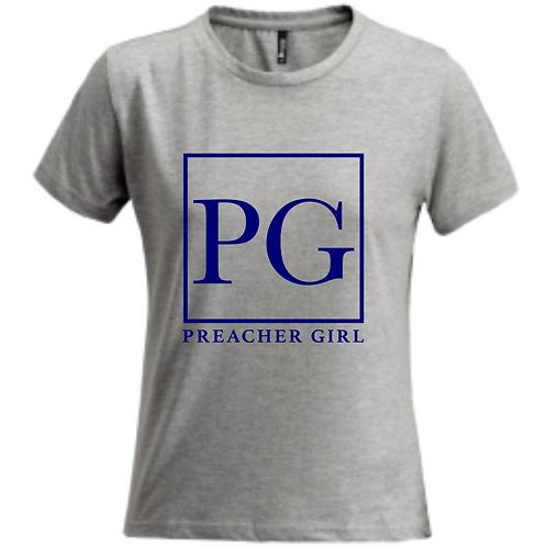 Navy Blue PG Logo Grey T-Shirt