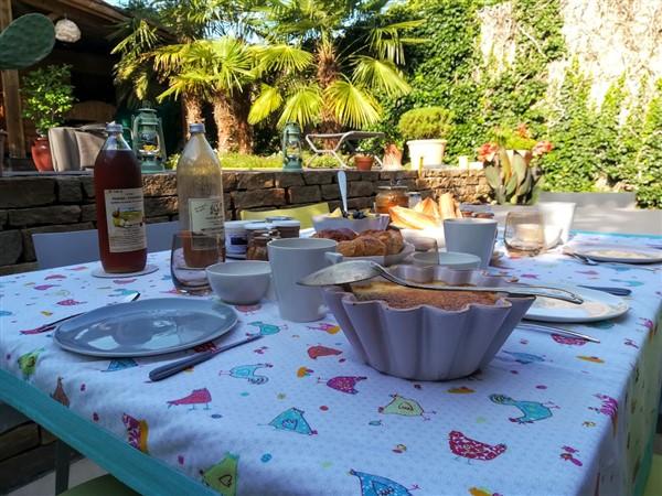 Petit dejeuner - Une odeur de Tilleul Chambre d'hotes - Montbrison