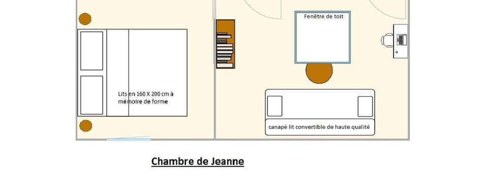 Plan Chambre hotes de Jeanne-Une Odeur d