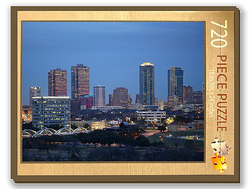 Fort Worth Skyline Puzzle