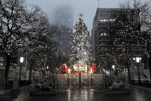 Holiday Cards - Foggy Morning in Sundance Square
