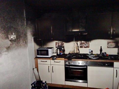 Brand in einem Apartmenthaus
