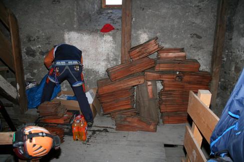 Räumung Kirchengewölbe