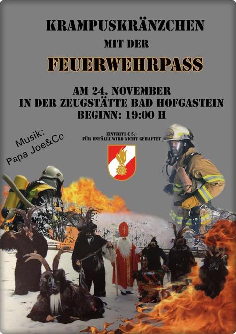Krampuskränzchen mit der Feuerwehr-Pass