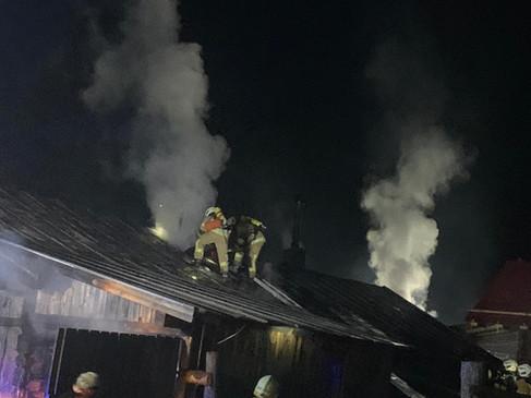 Brand der Lehenalm in Dorfgastein