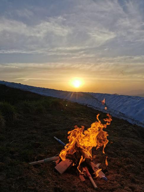 Sonnwend Feuer am Hundskopf