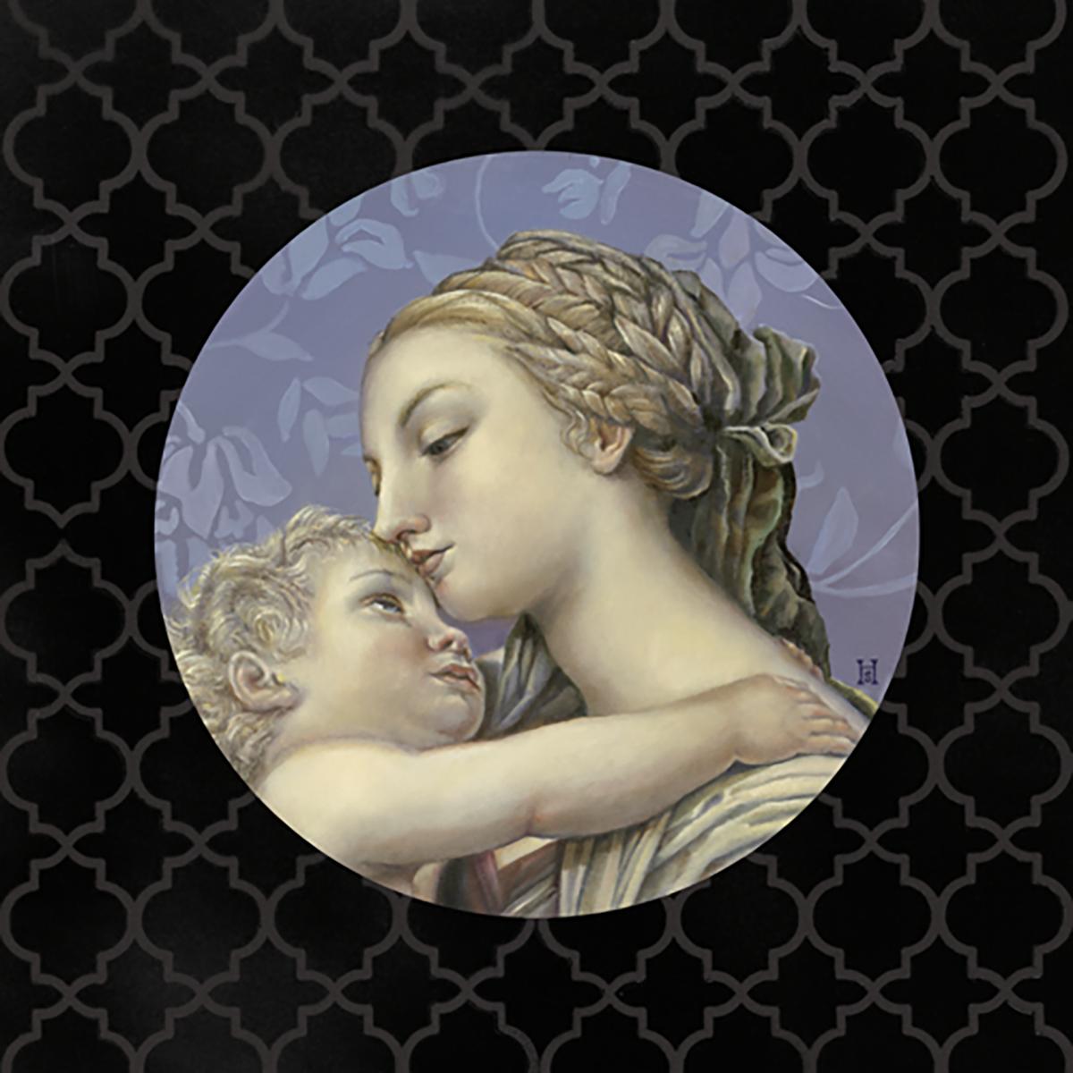 Maria e Gesù derivato da Pompeo Bato