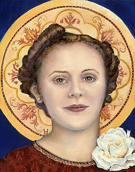 Pope Francis Mary portrait