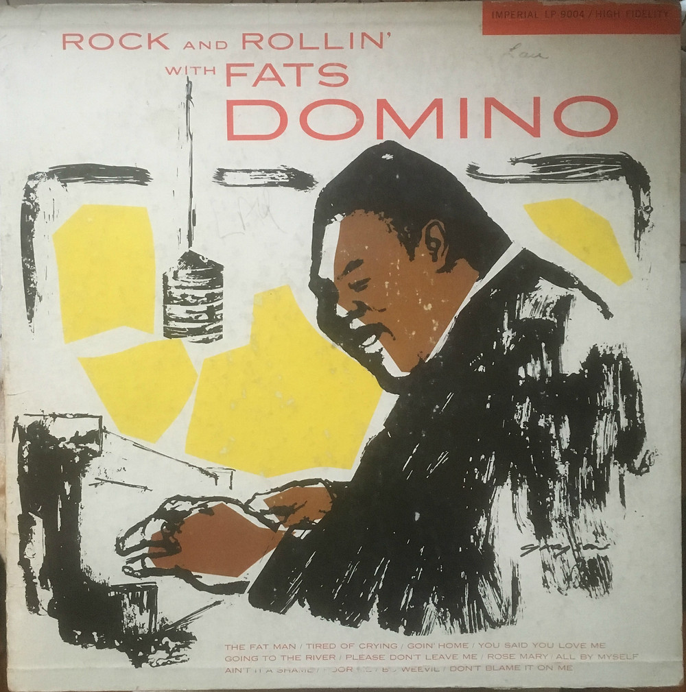 Fats Domino, Rock and Rollin' with Fats Domino, front album cover