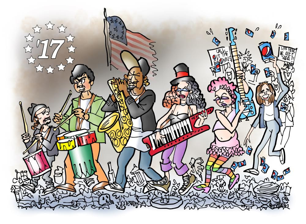 """The Spirit of 2017"" by Illustrator Mark Armstrong"