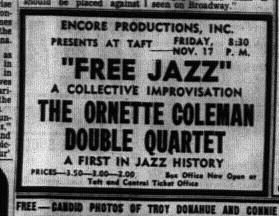 The Ornette Coleman Double Quartet Free Jazz